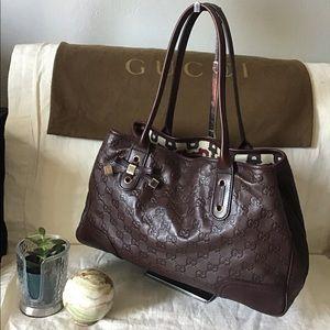 Gucci Princy Boston Guccissima Brown Leather